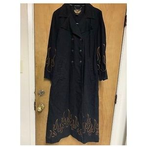 HARLEY DAVIDSON TRENCH COAT/DUSTER FLAMES